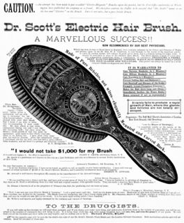Dr Scott's Electric Hair Brush - McKesson and Robbins Ill. Catalogue (p. 153) - 1883.jpg