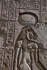 Sekhmet engraving at the Temple of Kom Ombo (CC-SA-2.5)