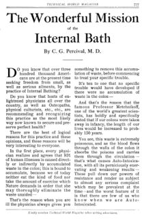 C. G. Percival - The Wonderful Mission of the Internal Bath (1915), page 1 of 2.jpg
