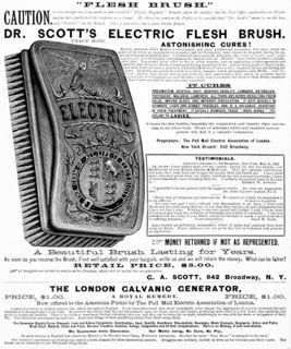 Dr Scott's Electric Flesh Brush - McKesson and Robbins Ill. Catalogue (p. 152) - 1883.jpg