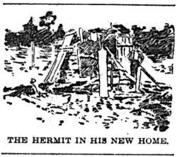 Jehu Parsons, THE HERMIT IN HIS NEW HOME - Indianapolis News (26.270, p. 6) - 1895-10-17.jpg